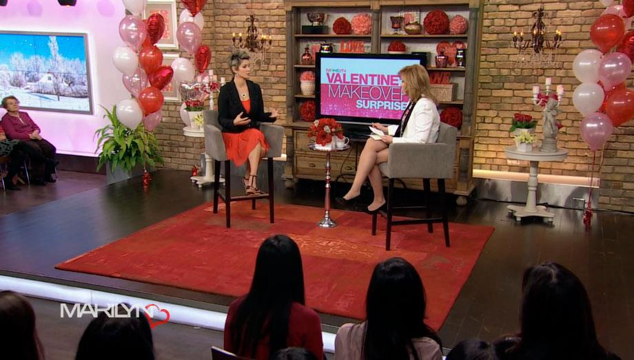 Image of Our carpet no.25782 looked beautiful on the set of the Marilyn Denis show for Valentines Day.