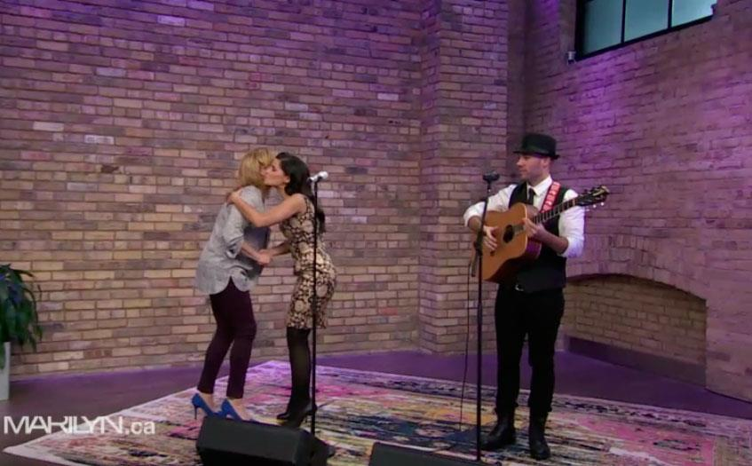 Image of Nelly Furtado performed on our beautiful rug no. 26974 on the Marilyn Denis Show