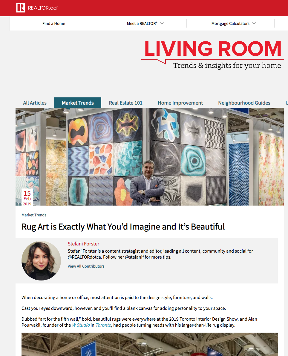Image of Check out Stefani Forster's coverage of our carpets at IDS2019 for Realtor.ca.